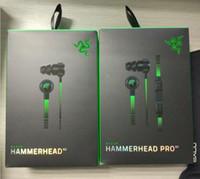fones de ouvido razer pro venda por atacado-Razer Hammerhead Pro V2 Fone De Ouvido no ouvido fone de ouvido Com Microfone Com Caixa De Varejo Em fones de Ouvido Jogo Gaming headsets Frete Grátis