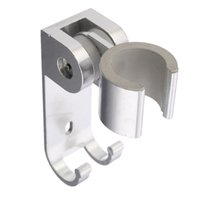 Wholesale faucet showerhead - 1pc Aluminum Alloy Bathroom Wall Mounted Shower Holder Showerhead Bracket Holder With Hooks Bathroom Accessories