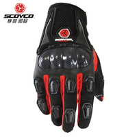 Wholesale Pink Bicycle Accessories - Scoyco MC09 Motorcycle Racing Accessories Bike Bicycle Full Finger Protective Gear Gloves Free Drop Shipping Wholesale