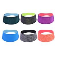 антискользящая лента оптовых-Elastic Sport Headband Women Head Fitness Yoga Sweat Band Outdoor Gym Running Tennis Headscarf Wide Anti-slip Sweatband Hairband