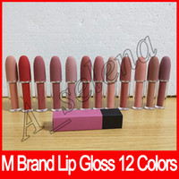 Wholesale wear lipstick resale online - 2018 Newest M brand Lip cosmetics Selena Christmas limited edition bullet lipstick Lustre Lip Gloss dhl free