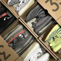 Wholesale Grey Dresses For Women - 2018 350 V2 Shoes Women Mens Running Shoes for Men Sneakers Blue Tint Yellow Frozen Zebra Designer Sport Casual Dress Shoes Sneakers