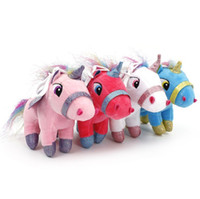 Wholesale pink blue stuffed animals resale online - New Unicorn plush toy cm stuffed animal Toy Children Plush Doll Baby Kids Plush Toy Good For Children gifts