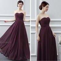 Wholesale red wedding dress western style resale online - Chiffon Bridesmaid Dresses Sleeveless Western Country Style Jewel Backless Long Beach RufflesTop Wedding Party Pageant Dresses