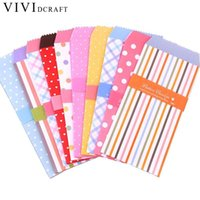 милые свадебные поделки оптовых-Vividcraft 20pcs/Pack Cute Cartoon Wedding Leer Envelope Mini Colorful Paper Envelope Kawaii Small Baby Gift Craft Envelopes
