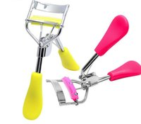 Wholesale Tool For Curling Eyelashes - 10colors Eyelash Curler with comb Cosmetic Curler Curling Eyes Tweezer For Eyelashes Beauty Makeup Tools & Accessories