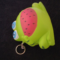 Wholesale key chain frog - Novelty Games Squishy Soft Pu Simulation Bread Frog Kawaii Squishies Kids Toy Key Chain Slow Rising Squeeze Charms Free Shipping 13ck Z