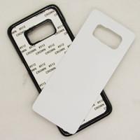 telefones s4 venda por atacado-Para samsung s9 s9 mais s8 mais s7 s6 borda S5 S4 DIY 2D Sublimação Em Branco Plástico Rígido Caso Capa Do Telefone Móvel Com Gule e Placa De Alumínio
