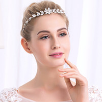 Wholesale metal austrian for sale - Group buy Fashion Flower Austrian Crystal Stone Headbands Wedding Hair Vine Women Hair Jewelry Accessories Metal Bride s Tiaras JCG073