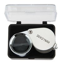 Wholesale loupe jewelers wholesale - 30x21mm Jewelers Eye Magnifying Glass Magnifier Jewelers Loupe Lens loupe made of optical glass free shipping