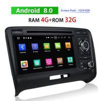 double din dvd bluetooth android venda por atacado-Duplo Din Android Player de Carro DVD para Audi TT 2006 ~ 2013 Bluetooth Rádio Navegação GPS BT WIFI 3G 4G TV Auto Multimídia jogador