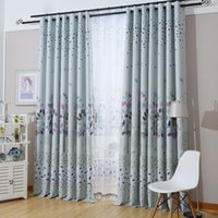 Modern Leaves Korean Garden Curtain Printing Blackout Curtains For Living Room  Dining Room Window Treatment Curtain For Bedroom