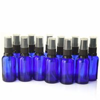Wholesale essential oil glass sprayer bottle resale online - 12 X ml Empty Cobalt Blue Glass Aromatherapy Spray Bottle Vaporizador w Fine Mist Sprayer for essential oil perfume atomizer