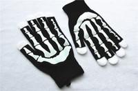 dans kıyafeti eldivenleri toptan satış-Destek FBA Drop Shipping Siyah Punk Cadılar Bayramı İskelet Kazak Seksi Disko Dans Kostüm Partisi Eldiven Sıcak Glitter Eldiven H929Q