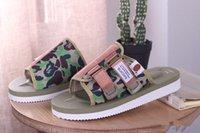 Wholesale moto shoes - 2018 New Arrivals Summer MMJ CLOT Suicoke KAW-VS APE Camo MOTO-VS Beach shoes Slipper Casual Sandals Slippers Men casual shoes