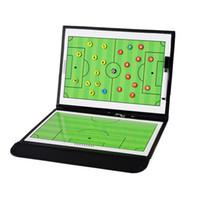 katlanabilir tahta toptan satış-Koçluk Kurulu Katlanabilir Futbol Taktik Kurulu Manyetik Futbol Antrenör Taktik Plaka Kitap Kalem Pano Futbol Malzemeleri ile Set Ücretsiz Shippi