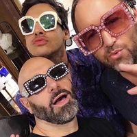 Wholesale Pearl Shade - ALOZ MICC Newest Fashion Pearl G Square Sunglasses Women Men Luxury Designer Italy Fashion Male Female Shades Oculos De Sol A448