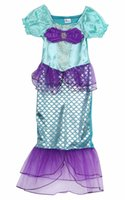 Wholesale little mermaid cosplay - 2017 The Little Mermaid Costume Girls Ariel Fancy Princess Cosplay Dress For Age 3-10