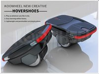 Wholesale e scooters - 100% Original KOOWHEEL New Design Hovershoes Smart Self Balancing One Wheel Electric Scooter Hover Shoes Single Wheel E-scooter DHL