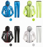 Sports cycling fission raincoat suits. Outdoor waterproof and cycling suit with sun protection and rain cover. Frivolous and breathe freely