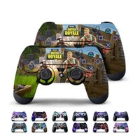 Wholesale game stickers - 13 color Game Fortnite Battle Royal PS4 Slim Skin Sticker For PlayStation hand Controllers Decal Vinyl Kids Toys Gift MMA190