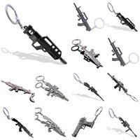 Discount zinc model - counter strike Fivesevem pistol Keychain weapon model gun Keychain alloy 12cm Llavero Chaveiro jewelry