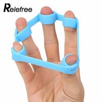 anillos de silicona al por mayor-1pcs entrenamiento de entrenamiento de agarre de la rehabilitación del dedo del silicón del anillo del ejercicio expansor entrenamiento de fitness 3 tamaños
