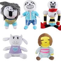 Wholesale undertale plush sans for sale - Anime Undertale Plush Toys Sans Papyrus Asriel Toriel Cartoon Comics Heroes Groot Stuffed Doll Gift For Kids Children cs YY