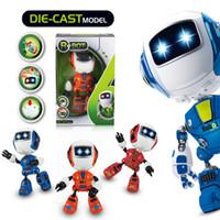 mini oyuncak robotları toptan satış-Mini Elektrikli LED Ses Akıllı Alaşım Robot Oyuncaklar Çocuklar Için Yenilik Telefonu Standı oyuncaklar noel hediyeleri