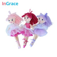 Wholesale Yarn Dolls - InGrace fantasy yarn skirt ballerina dolls for girls fashion girls toys unique gifts 30CM sweet dream dancing doll home decorat
