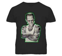 ingrosso disegni moderni della maglietta-FRANKENSTEIN The Modern Prometheus DESIGN T Shirt