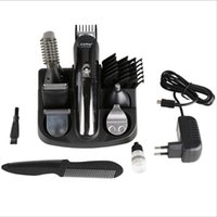 Wholesale cutting beard machine - KM Kemei Professional Hair Trimmer In Hair Clipper Shaver Full Set Electric Shaver Beard Trimmer Cutting Machine