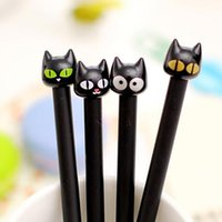 Wholesale cartoon stationery office school writing supplies for sale - Group buy Cute Kawaii Black Cat Gel Pen Cartoon Plastic Gel Pens For Writing Office School Supplies Korean Stationery