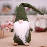 ingrosso vecchia barba-Multi Decorazioni Natalizie Foresta Vecchio Uomo Barba Lunga Giocattolo Senza Faccia Decorazioni per la Casa Halloween Bambini Regalo 3 Colori