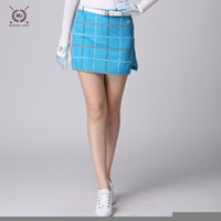 новый дизайн юбка леди оптовых-New design women golf skirts sports clothes ladies short skirt golf women's culoes girls elastic plaid skirt