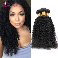 Wholesale lula hair resale online - Filipino Virgin Hair Jerry Curly Human Hair Weave Bundle Ms Lula Filipino Hair A Virgin Afro Kinky Curly Extensions