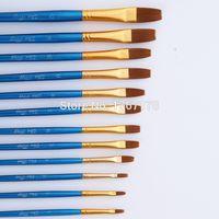 neue plastikfarbe großhandel-Mode Neue Nylon 24 Stücke Nylonhaar Holzgriff Malerei Pinsel Künstler Pen Set Farbe Blisterkarte Kunststoff