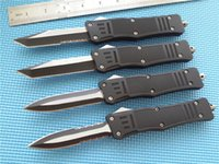 Wholesale knife size - MT A161 Combat Troodon Recurve D A Knife C steel Two Tone Drop point Thumb Slide Tactical knives Full size