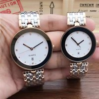 Wholesale couple color watches for sale - Group buy New Elegant classic RD couples watches quartz movement stainless steel strap crystal diamond membrane mirror High Quality
