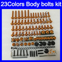 Wholesale R6 Bolts - Fairing bolts full screw kit For YAMAHA YZFR6 98 99 00 01 02 YZF-R6 YZF R6 1998 1999 2000 2001 2002 Body Nuts screws nut bolt kit 23Colors
