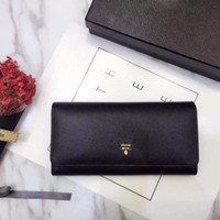 Wholesale genuine leather pillows - With original box women purse Luxury brand Designer Cover Long Wallet 9 color fashion Credit Card Wallets Size 19*10 cm model LM050607