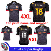 Wholesale printed football jerseys - 2018 Chiefs Super Rugby Home Jersey New Zealand Highlanders rugby jerseys blue chiefs football shirts size S-3XL-5XL (can print)