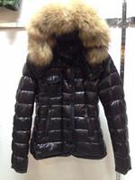 ingrosso giacche donna-M95 ARMOISE parka per donna giacca invernale Winter Coat Signore anorak donna piumino con vera pelliccia di procione