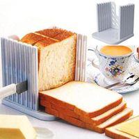 ekmek dilimleyici tostları toptan satış-Mutfak Pro Aracı Ekmek Loaf Tost Dilimleme Kesici Kalıp Makinesi Dilimleme Kesme Kılavuzu