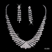 cheap statement jewelry sets NZ - 2018 Cheap Styles Statement Necklaces peals Sets Bridesmaids Jewelry Lady Women Prom Party Fashion Jewelry Earrings 15055 No Chain