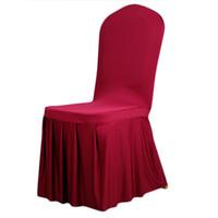 silla cubre bodas para la venta al por mayor-Universal Spandex Cubiertas de la Silla de China Para Bodas Decoración Del Partido Cena Silla Cubre Silla Cubierta de la Silla Venta Caliente