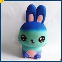 brinquedo de coelho azul venda por atacado-Brinquedo Elástico Dos Desenhos Animados Simulação PU Orelha Grande Coelho Lento Rising Squishies Squeeies Animal Jumbo Squishy Azul 16 99xz B