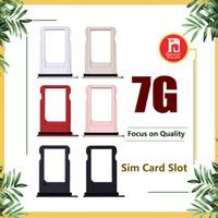 titulares de la tarjeta sim iphone al por mayor-Bandeja Sim para Apple iPhone 7 7G Soporte de la bandeja de la tarjeta Sim Reemplazo de la ranura Negro Jet Negro Oro Rosa Oro Plata Color