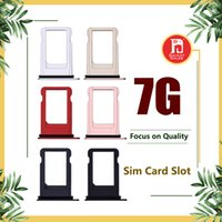 Wholesale iphone black sim card tray - Original Sim Tray For Apple iPhone 7 7G Sim Card Tray Holder Slot Replacement Black Jet Black Gold Rose Gold Silver Color
