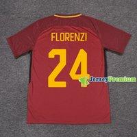 Wholesale Mario Football - Nainggolan Strootman Dzeko Totti De Rossi Mario Rui Florenzi El Shaarawy Home Football Soccer Jerseys Wine Shirt